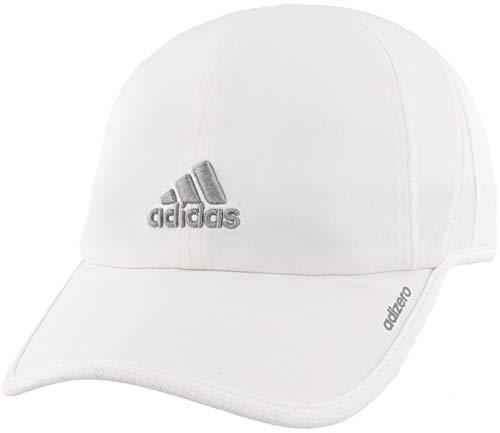adidas Womens Adizero II Cap, White/Light Onix, ONE SIZE