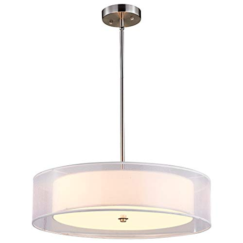 Double Drum Pendant Light Fixture