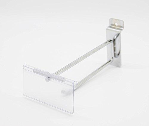 FixtureDisplays 10 Pack of 6 inches Slatwall Scanner Hook Retail Store Price Display 15827-10PK