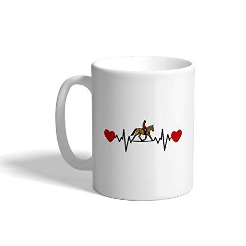 Ceramic Funny Coffee Mug Coffee Cup Horseback Riding Lifeline a White Tea Cup 11 Ounces
