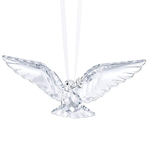 Swarovski Clear Peace Dove Ornament, Crystal, 2.6 x 7.2 x 3.5 cm ()