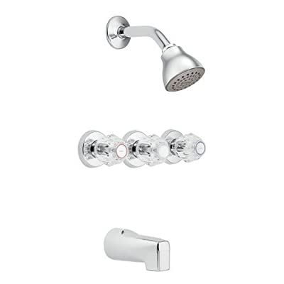Moen 2995 Thermostatic Tub and Shower Trim with 2.5 GPM Shower Head, Tub Spout,,