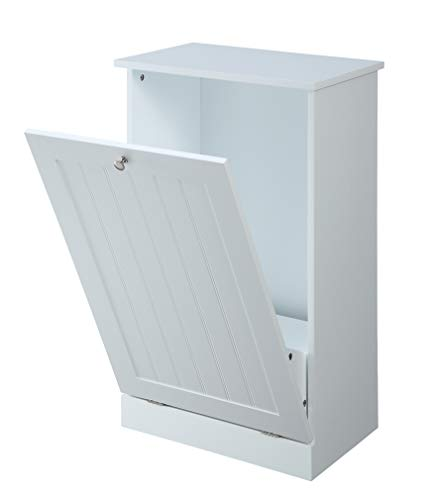 Tilt Out Trash Cabinet by Seven Oaks (White)