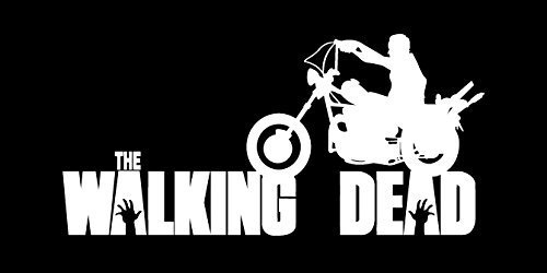Daryl Dixon Walking Dead Motorcycle WHITE Vinyl Car/Laptop/Window/Wall Decal -