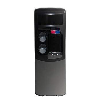 Dispensador Agua, Fuente EMAX de filtración, Negra y Gris. Agua fría y Caliente