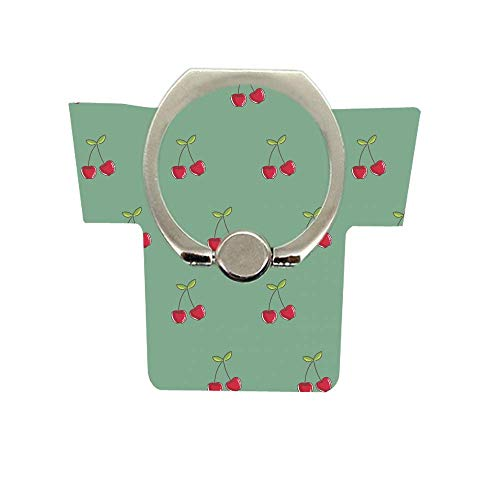 (Finger Ring Stand,Stylish 360°Rotation Cell Phone Ring Holder Kickstand for iPhone X 8 7 6 Plus,Samsung Galaxy S10 S9,Note LG HTC Smartphone Ect Cherry)