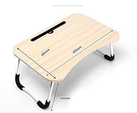 40 Beige Multifunzionale Tavolino Porta PC Computer Supporto PC Portatile e Notebook Regolabile in Altezza e Inclinazione 60 Ranura de la Taza