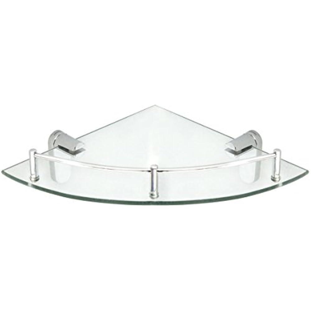 Corner Bathroom Shelves Glass Shelf Pre-Installed Rail