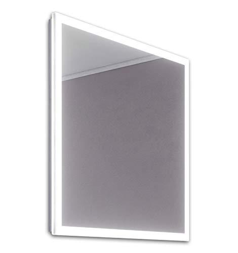 DIAMOND X COLLECTION Serena Slimline Edge LED Bathroom Mirror with Demister Pad -