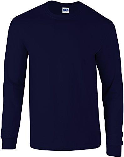 Blu Soft Gildan Style sleeve Shirt Marino Homme T L qU0T7xrw40