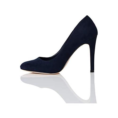 chollos oferta descuentos barato FIND Round Toe High Court Zapatos de Tacón Azul Navy 37 EU