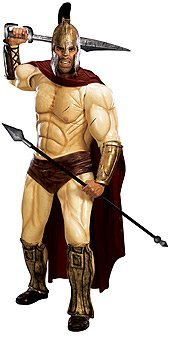 [300 Movie Quality Spartan Warrior Adult Collector Costume Size X-Large (XL)] (Spartan 300 Halloween Costumes)