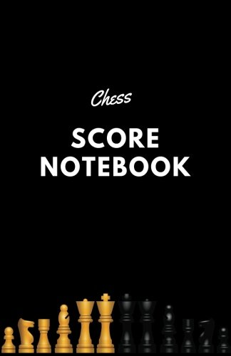 Chess Score Notebook: Black Cover | Record Your Games, Log Wins Moves & Strategy | Note, Notation, Journal Match Scorebook | Easy To Carry Small Size (Strategy Games) (Volume 1)