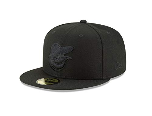 New Era Baltimore Orioles Black Primary Logo Basic 59FIFTY Fitted Hat (7 3/8) ()