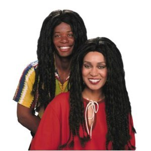 DELUXE LONG HAIRED JAMICAN RASTA MON ADULT COSTUME WIG