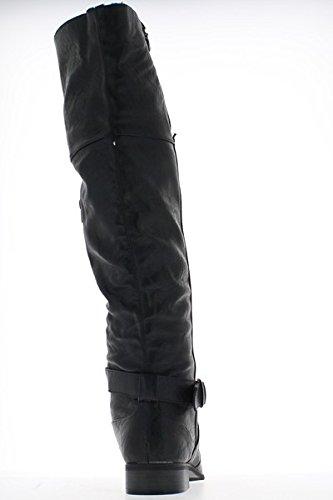 Bottes femme noires fourrées à talons de 3,5cm