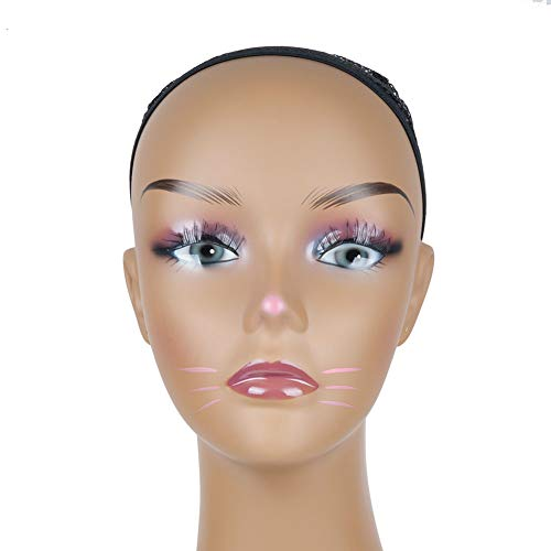 Price comparison product image L7 MANNEQUIN Tan Kitty Cat Make up Mannequin Head Wig Display Stand