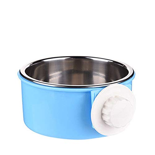 PETLESO Dog Crate Bowl Stainless Steel Bowl Water Feed Bowl for Pet Dog Cat Bird