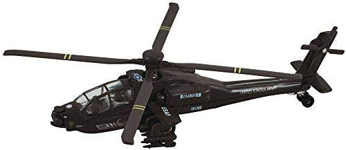 Apache Attack Helicopter AH-64 Black ; Army Pullback Toys