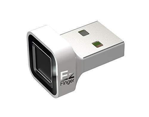 Octatco EzFinger [White] Fingerprint Reader USB Dongle for Windows 7,8,8.1 & 10 Hello Login, Sign-in, File encryption, Folder Lock, Biometric Scanner Sensor, Password-Free (Dongle Scanner Usb)