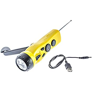 Hand Crank LED Camping Emergency Flashlight Radio Torch Phone Charger Outdoor