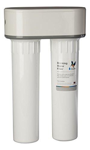 Doulton W9380020 Filtro Doble Purificador de Agua de Plastico, Bajo Encimera y Cartucho Ultracarb, color Blanco
