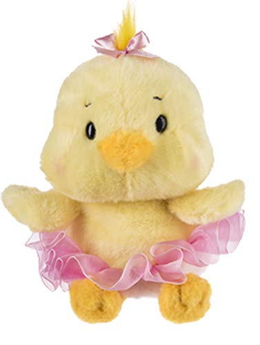 Ganz Ballerina Plush Doll Cyndi a Yellow Baby Chick with Pink Tutu and Bow Spring Easter Plush Toy from Ganz