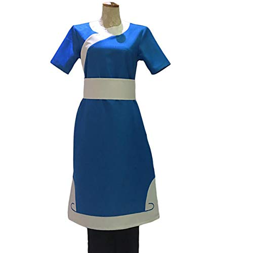 NSOKing Hot Anime Avatar The Last Airbender Katara Cosplay Halloween Costume Custom Made (Medium, Blue)]()
