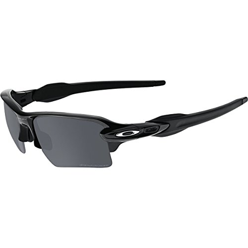 Oakley Men's Flak 2.0 XL OO9188-08 Rectangular Sunglasses, Polished Black, 59 mm