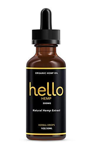 Organic Hemp Oil Extract – Pure Hemp Oil for Pain Relief – Great Sleep Herbal Supplements – 300 MG – Zero THC