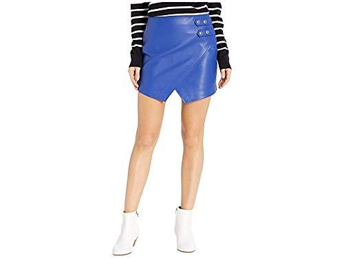 [BLANKNYC] Blank NYC Women's Vegan Leather Mini Skirt w/Side Buckle Blue My Mind 28