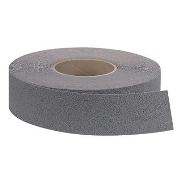 StickersLab - Strisce nastro pellicole adesive antiscivolo colore grigio silver 25mm x 6 MT o 18MT (Lunghezza - 25mm x 6MT)