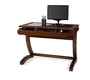 Amazon Com Realspace Coastal Ridge Writing Desk Mahogany