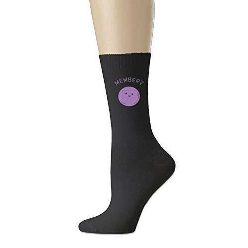 unisex Member Berries All-Season Cotton Crew Athletic Socks Black (3 colors)