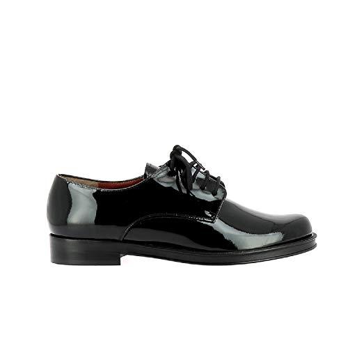 Negro De Stuart Elizabeth Piel Otra Mujer Cordones Zapatos x6qw40