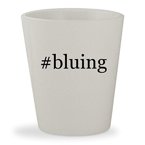 #bluing - White Hashtag Ceramic 1.5oz Shot Glass