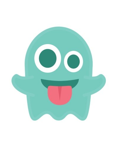 "Emoji Notebook  ghost: Lined  8.5"" x 11""  70 Sheet PDF"