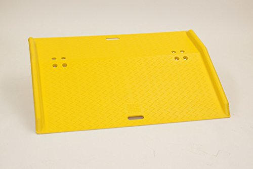 Eagle 1797 Lightweight Fixed Poly Dockplate, 36'' Length x 48'' Width x 5'' Height, Yellow, For Hand Trucks by Eagle