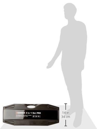 Mikasa Martillo 3/in1/Redes de Set Pro Incluye Incluye Set de b/ádminton