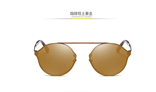 earth box de metal caja GLSYJ gold film de Coffee Gafas gafas gafas moda sol de coloridos sol redonda ho LSHGYJ sol wYTqUzXxw