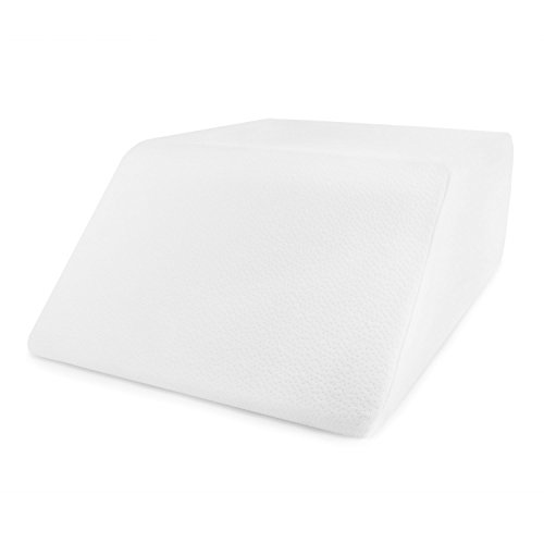Comfort-And-Support-Memory-Foam-Elevating-Leg-Rest-Pillow-Sciatica-Pregnancy-and-Knee-Pain-Relief-Layered-Memory-Foam-With-Washable-Pillow-Case