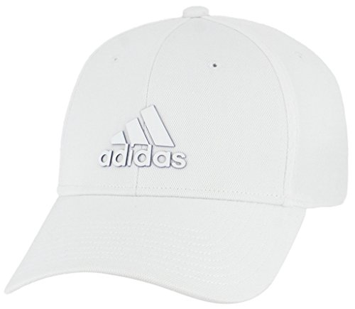 adidas Men's Franchise Structured Stretch Fit Cap, white/bold blue, L/XL