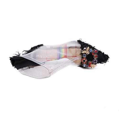 Cuña Mujer Con Sandalias 1to9 Negro Mns03565 qgPH0a