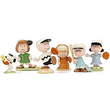 Lenox Peanuts Baseball Team Set of 6 - Snoopy