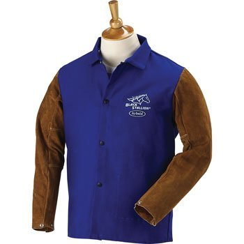 BLACK STALLION Hybrid 9 oz. FR and Cowhide Welding Coat - 30