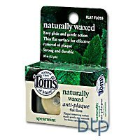 Tom's of Maine Natural Care Flat Floss, Naturally Waxed, Antiplaque, Spearmint, 30 m. by Tom's of Maine