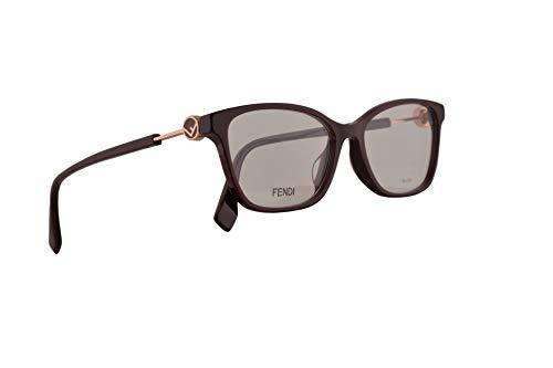 Fendi FF0363/F Eyeglasses 53-16-145 Opal Burgundy w/Demo Clear Lens LHF FF0363 0363 FF 0363/F