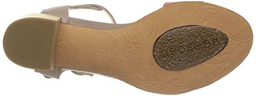 Neosens Callet 145 - Zapatos de Vestir de cuero mujer multicolor - Multicolore (Lino Pêche)