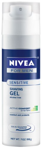 Nivea For Men Sensitive Shave Gel, 7-Ounce Canister (Pack of 12)