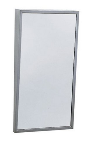 Bobrick B-293 1630 30'' Height x 16'' Width, Stainless Steel Series Fixed Tilt Mirror by Bobrick